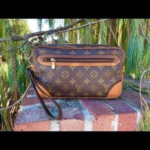 Louis Vuitton Marley Bag Unisex Auth Serial#Inside